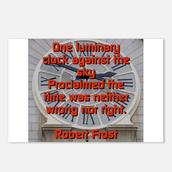 One Luminary Clock - Robert Frost Postcards (Packa