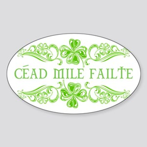 Céad Mile Fáilte Sticker (Oval)