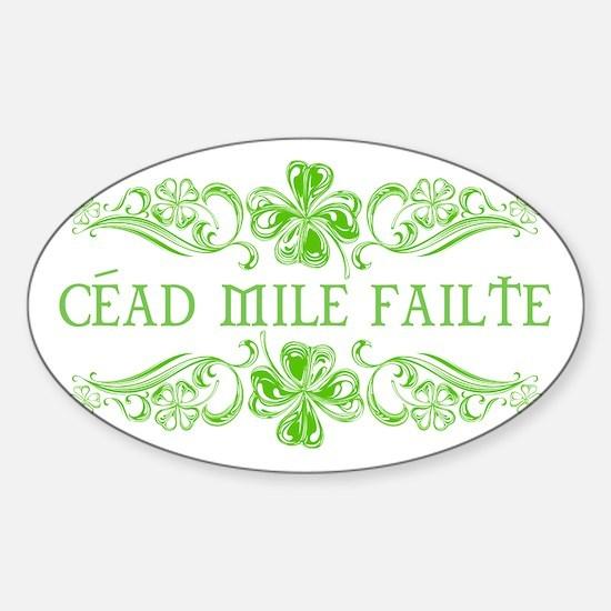 Céad Mile Fáilte Sticker (Oval)