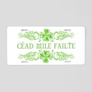 Céad Mile Fáilte Aluminum License Plate