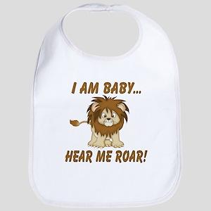 Funny Hear Me Roar Bib