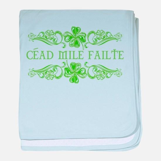 Céad Mile Fáilte baby blanket