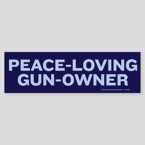 Peace Loving Gun Owner Sticker (Bumper)