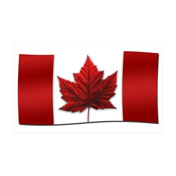 Canada Flag 35x21 Wall Decal