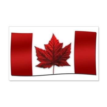 Canada Flag 20x12 Wall Decal