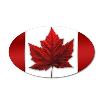 Canada Flag 35x21 Oval Wall Decal