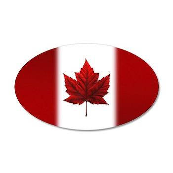 Canada Flag 20x12 Oval Wall Decal