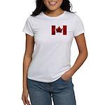 Canada Flag Women's T-Shirt Canada Souvenir Shirt