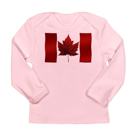 Canada Flag Baby T-Shirt Long Sleeve Baby Souvenir