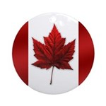 Canada Flag Ornament (Round)