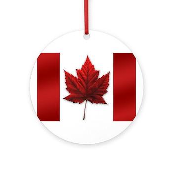 Canada Flag Ornament (Round)