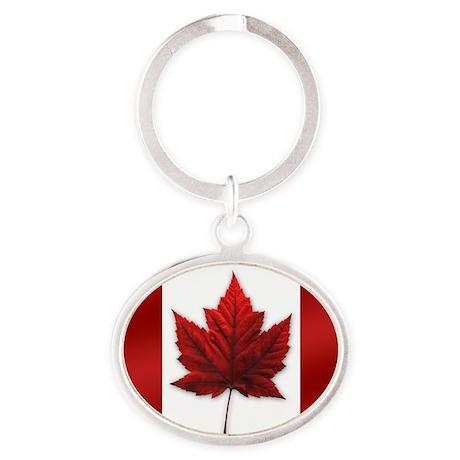 Canada Flag Oval Keychain