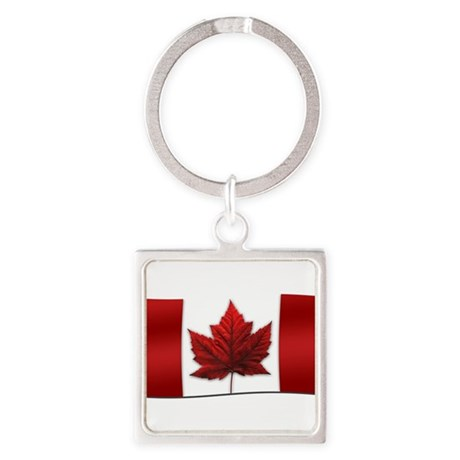 Canada Flag Square Keychain