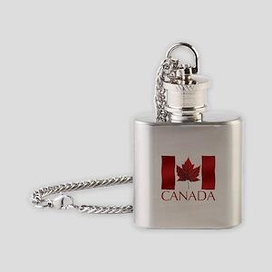 Canada Flag Flask Necklace Canada Souvenir