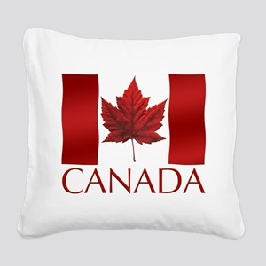Canada Flag Square Canvas Pillow