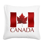 Canada Flag Square Canvas Pillow