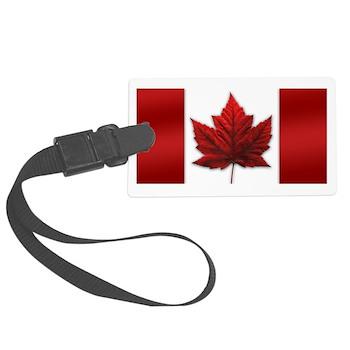 Canada Flag Luggage Tag Canadian Souvenir