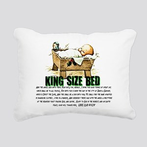 Jesus Manger Rectangular Canvas Pillow