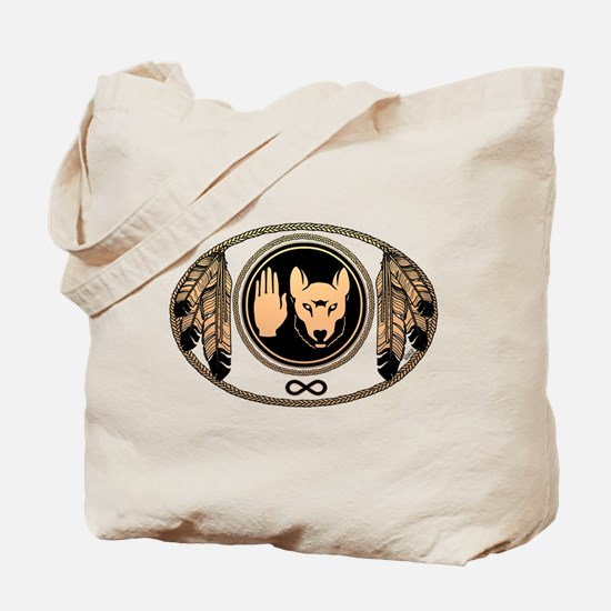 Metis Flag First Nations Wolf Flag Gift Tote Bag