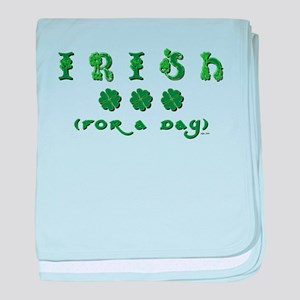 IRISH FOR A DAY baby blanket