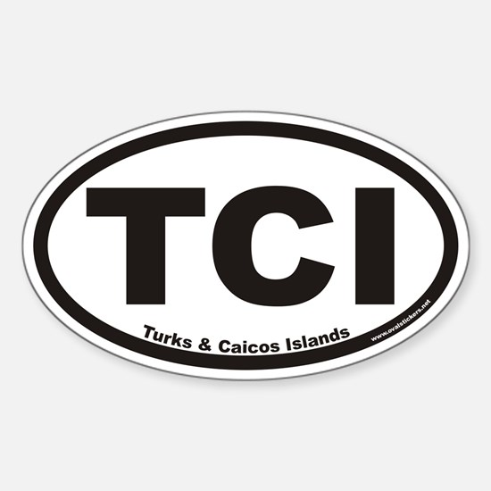 Turks & Caicos Islands TCI Euro Oval Decal