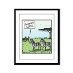 Zebra Geeks Framed Panel Print