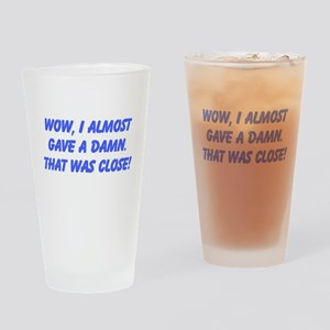Close Call Drinking Glass