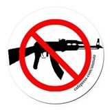 Ban assault weapons Round Car Magnets