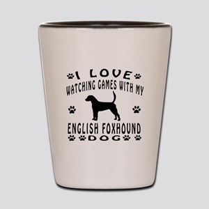 English Foxhound design Shot Glass