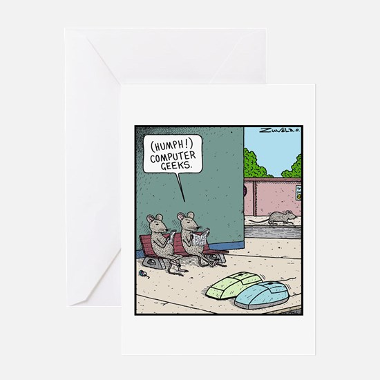 Computer Geeks Greeting Card