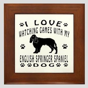 English Springer Spaniel design Framed Tile