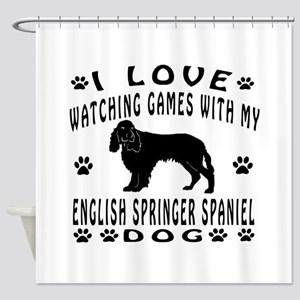 English Springer Spaniel design Shower Curtain