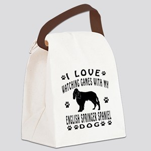 English Springer Spaniel design Canvas Lunch Bag