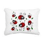 Cute Ladybug Pattern Rectangular Canvas Pillow