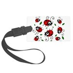 Cute Ladybug Pattern Large Luggage Tag