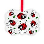 Cute Ladybug Pattern Picture Ornament