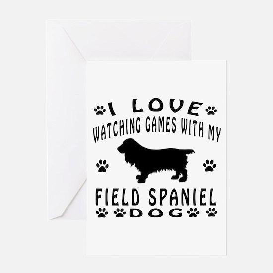 Field Spaniel design Greeting Card