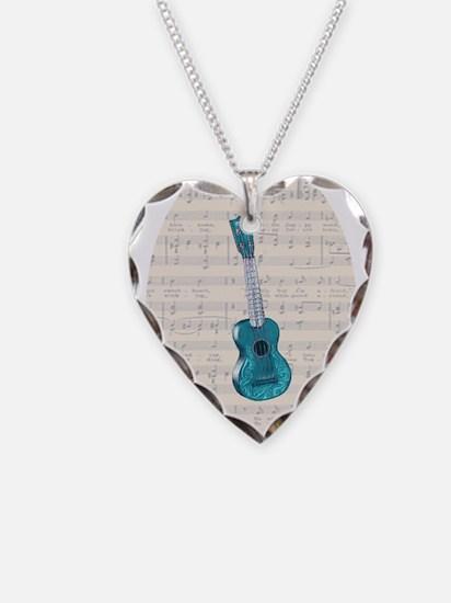 Unique Ukes Necklace Heart Charm
