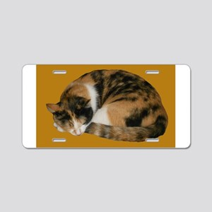 Callico Napping Aluminum License Plate