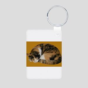 Callico Napping Aluminum Photo Keychain
