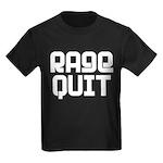 RAGE QUIT! Kids Dark T-Shirt