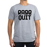 RAGE QUIT! Men's Fitted T-Shirt (dark)