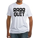 RAGE QUIT! Fitted T-Shirt