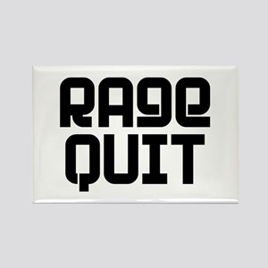 RAGE QUIT! Rectangle Magnet