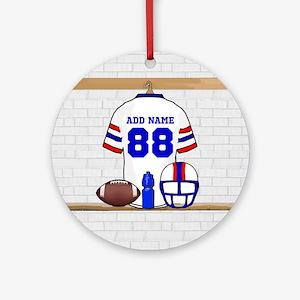 Personalized American Football Grid Iron WRB Ornam
