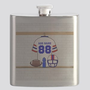 Personalized American Football Grid Iron WRB Flask