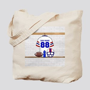 Personalized American Football Grid Iron WRB Tote