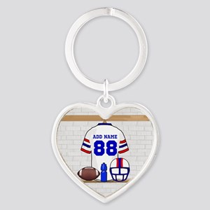 Personalized American Football Grid Iron WRB Heart