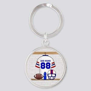 Personalized American Football Grid Iron WRB Round