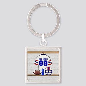 Personalized American Football Grid Iron WRB Squar